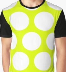 Chartreuse Large Polka Dots Graphic T-Shirt