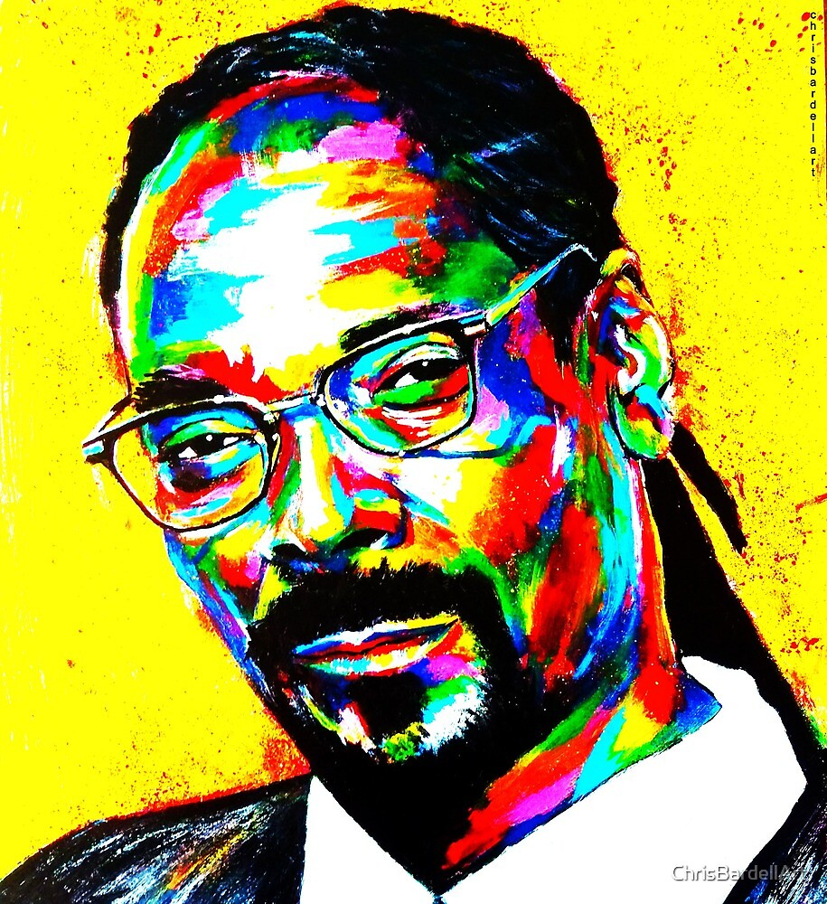SNOOP DOGG ABSTRACT by ChrisBardellArt
