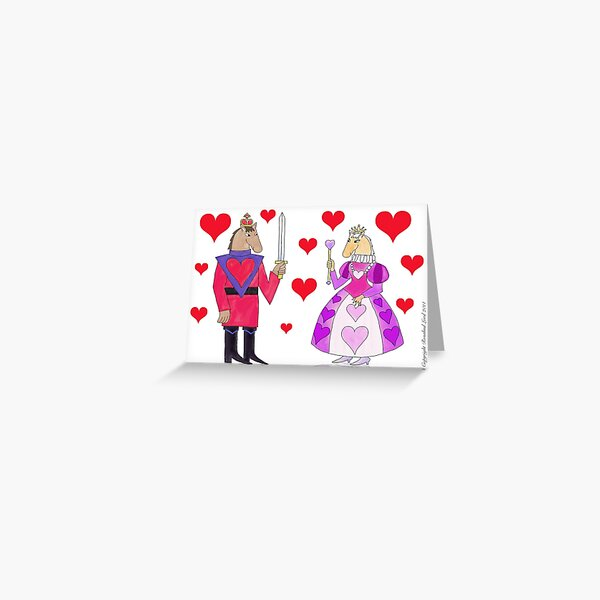 Horse King and Queen of Hearts Greeting Card