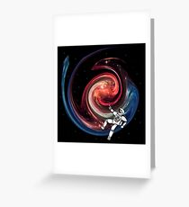 Space Leisure Time - Painting A Dragon Greeting Card