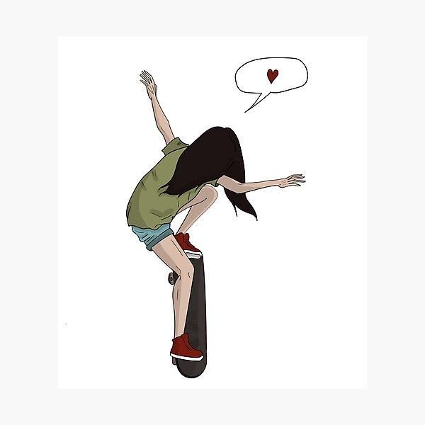 skateboard girl Photographic Print