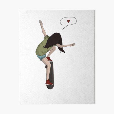 skateboard girl Art Board Print