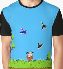 Duck Hunt Retro Video Game Art Nintendo Graphic T-Shirt
