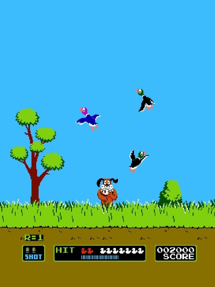 Duck Hunt Retro Video Game Art Nintendo by LemonRindDesign