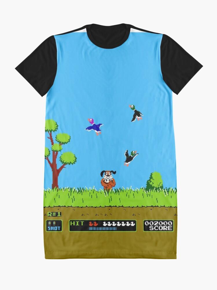 Alternate view of Duck Hunt Retro Video Game Art Nintendo Graphic T-Shirt Dress