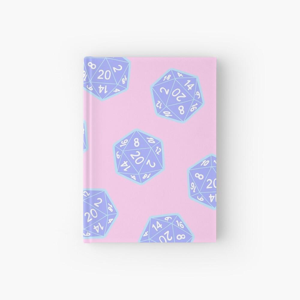 Twenty Sided Dice Pattern in Pastels Hardcover Journal
