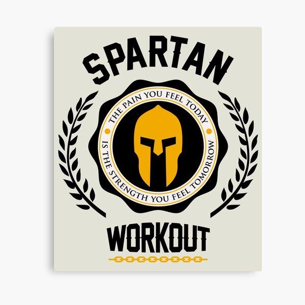 Spartan Workout Motivation Canvas Print