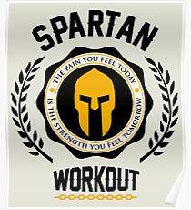 Spartan Workout Motivation Poster