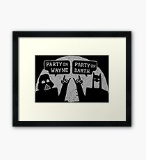 Party On Wayne Framed Print