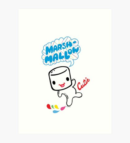 Marshmallow Cutie Art Print