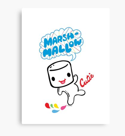 Marshmallow Cutie Canvas Print