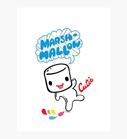 Marshmallow Cutie Photographic Print