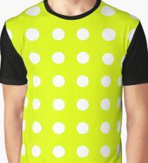 Chartreuse Small Polka Dots Graphic T-Shirt