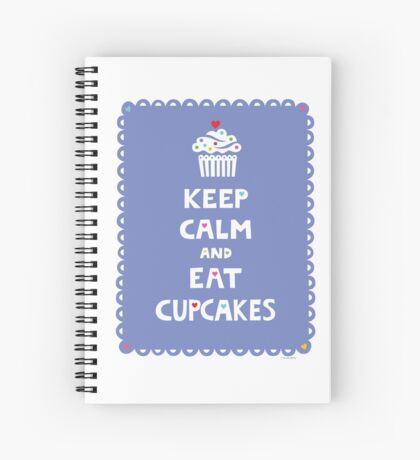 Keep Calm and Eat Cupcakes - frilly Spiral Notebook