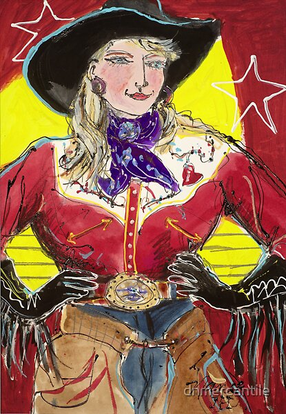 """SHOWTIME COWGIRL"" by dnmercantile"