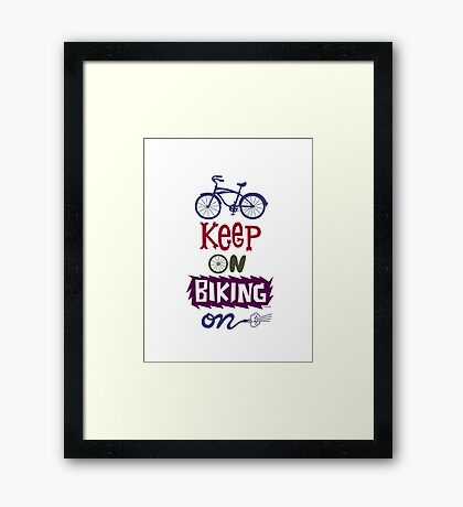 Keep On Riding On - Colors   Framed Print