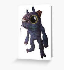Monster with a Hat Greeting Card