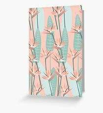 Bird of paradise - mint Greeting Card