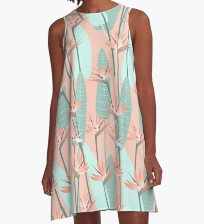 Bird of paradise - mint A-Line Dress