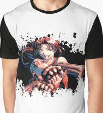 Revy Black Lagoon splatter Graphic T-Shirt