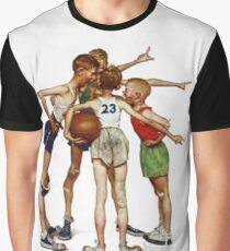 Norman Rockwell Sporting Boys Graphic T-Shirt