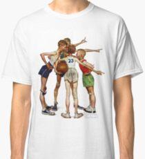 Norman Rockwell Sporting Boys Classic T-Shirt