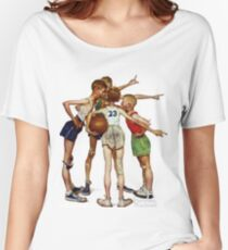 Norman Rockwell Sporting Boys Women's Relaxed Fit T-Shirt