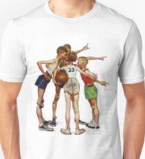 Norman Rockwell Sporting Boys Unisex T-Shirt