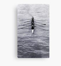 Rowing Metal Print