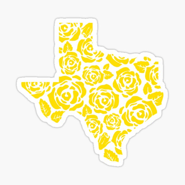 The Yellow Rose of Texas Pattern Sticker