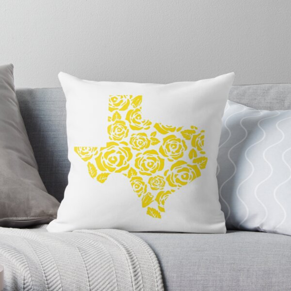 The Yellow Rose of Texas Pattern Throw Pillow