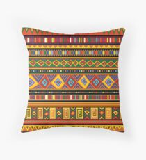 Ethnic Colorful Pattern Africa Art Throw Pillow