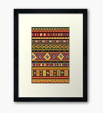 Ethnic Colorful Pattern Africa Art Framed Print