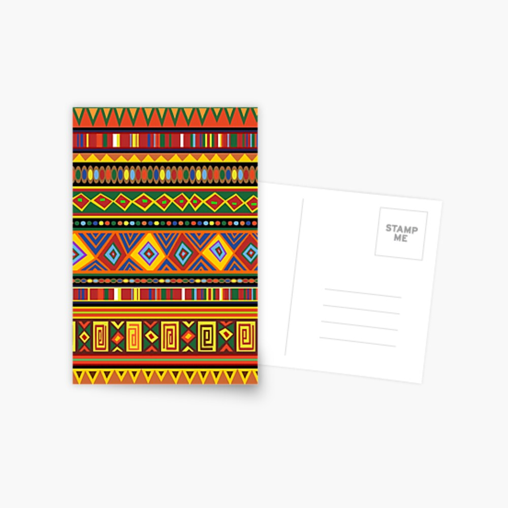 artistic post cards Tribal African post cards stationery rare Post card set motif card colourful cards unique art modern
