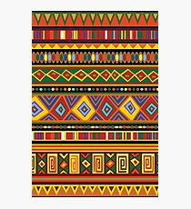 Ethnic Colorful Pattern Africa Art Photographic Print