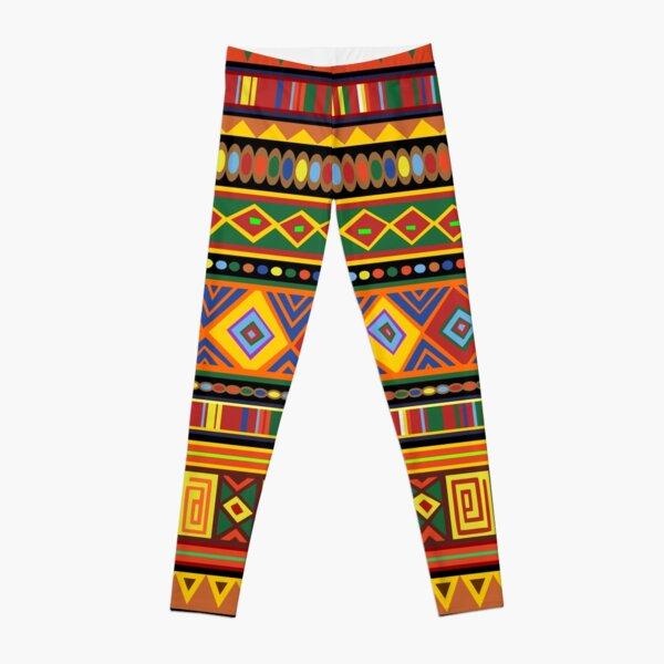 Africa Ethnic Colorful Pattern Design Leggings