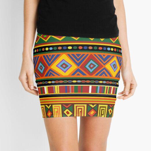 Africa Ethnic Colorful Pattern Design Mini Skirt