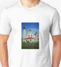 """Up North""-Point Iroquois Lighthouse, Upper Pennusula, Michigan T-Shirt"