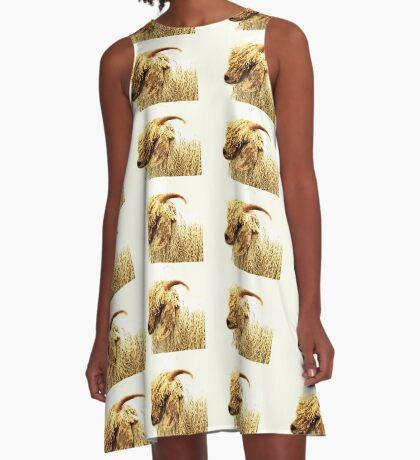Schlechtes Haar Tag - Angora-Ziege A-Linien Kleid