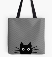 Black Cat Face Tote Bag