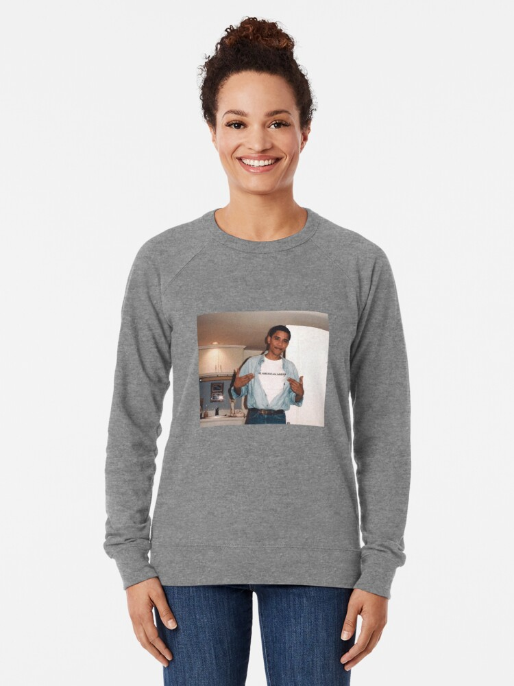 Alternative Ansicht von Der amerikanische Traum - Obama Print Leichter Pullover