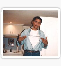 Der amerikanische Traum - Obama Print Sticker