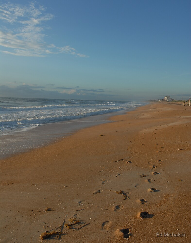 Walk on the beach by Ed Michalski