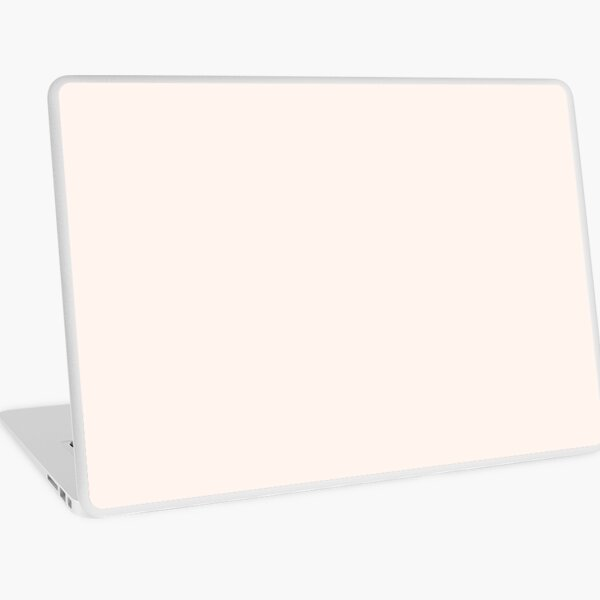 PLAIN SOLID SEA SHELL NEUTRAL - 100 SHADES OF NEUTRAL TONES ON OZCUSHIONS Laptop Skin