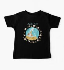 Mama bird feeding baby birds in her nest with text saying Baby bird Kids Clothes
