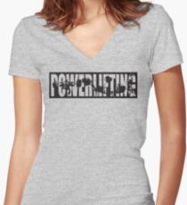 Powerlifting ICONIC - Squat, Bench Press, Deadlift Women's Fitted V-Neck T-Shirt