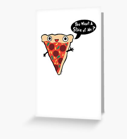 Pizza Monster 2 Greeting Card
