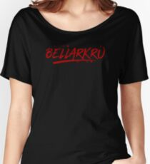 Bellarkru (Red Text) Women's Relaxed Fit T-Shirt