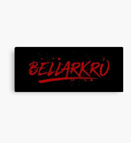 Bellarkru (Red Text) Canvas Print