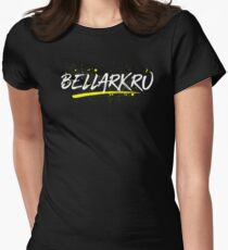 Bellarkru (White Text) Womens Fitted T-Shirt